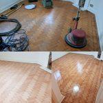 Sanding A wood Floor In Essex