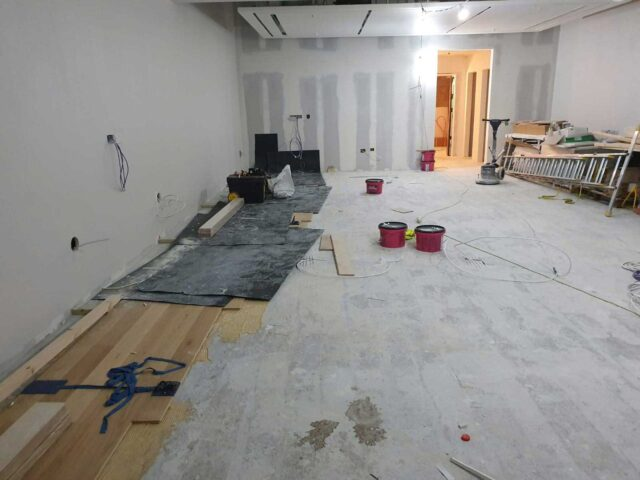 Starting To Lay Tommy Hilfiger Floor