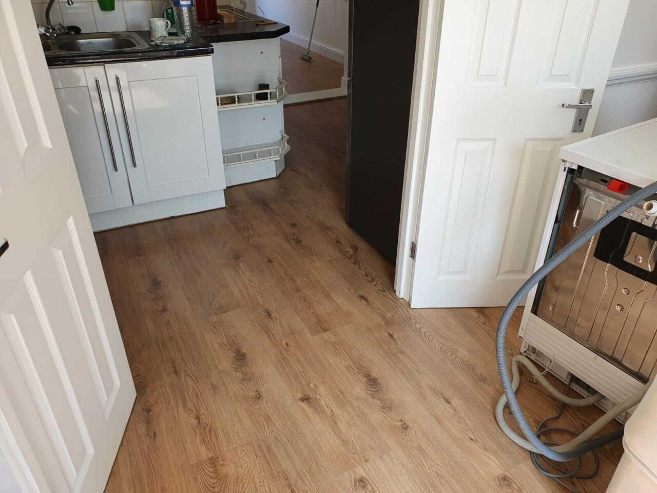 finished laminate kitchen flooring