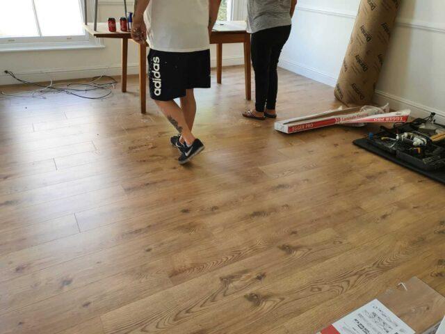 laminate floor in lounge