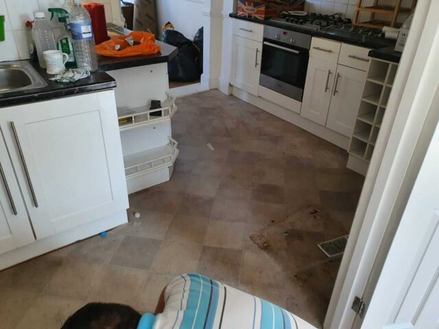 old kitchen floor