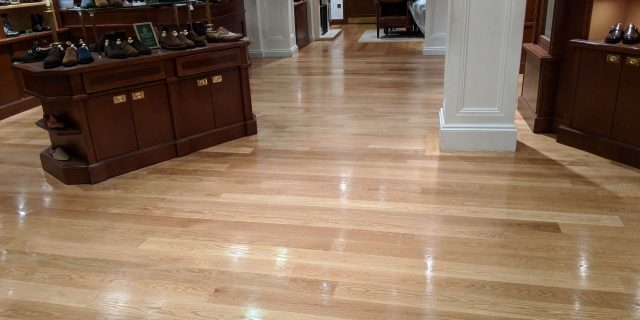 sanded and polished floor