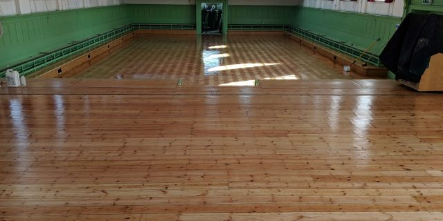 Renovated Hall floor by TLC's floor sanding services